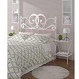 HOGARES CON ESTILO - Cabecero de Forja nacional modelo VENECIA para una cama de 135 cms. (Varios colores y medidas...