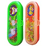Kp New Combo Set Of 2 Cute Hot Selling Kids Game Plastic Multifunctional Pen /pencil Holder Case Box For Kids Boys & Girls- (Large)