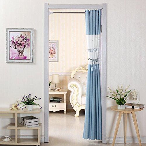 Liuyu · Lebendes Haus Tür Vorhang Tuch ländlichen abgeschnitten Badezimmer Schlafzimmer Küche Wohnzimmer langen Vorhang Turm Muster ( Farbe : Blau , größe : 200*150cm )