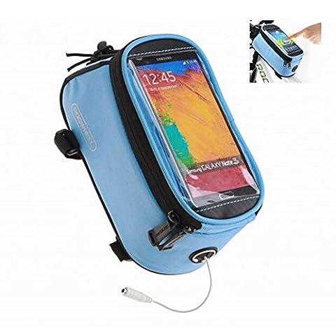 Road Mountain Bike Bag Pannier Classic Roswheel Mini Cycling Bicycle Front tube Bags For Men Women For iphone 4 5 6 7 Plus 8 8plus X Samsung Huawei Xiaomi OnePlus LG HTC Meizu Google Nexus, blue S M
