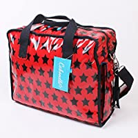 Fun & Funky Stars Caboodle Baby Changing Bag Set Messenger Changing Mat Bottle and Nappy Bag (Red)