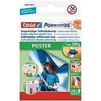 Tesa Powerstrips - Paquete de 20 etiquetas adhesivas para sujeción