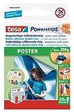tesa Powerstrips Poster (Doppelseitige Klebestreifen für Poster und Plakate, Selbstklebend und...
