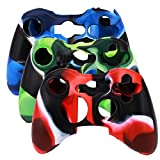 #9: Microware New Silicone Cover Case Skin for Xbox 360 Controller Camo (Blue and Black)