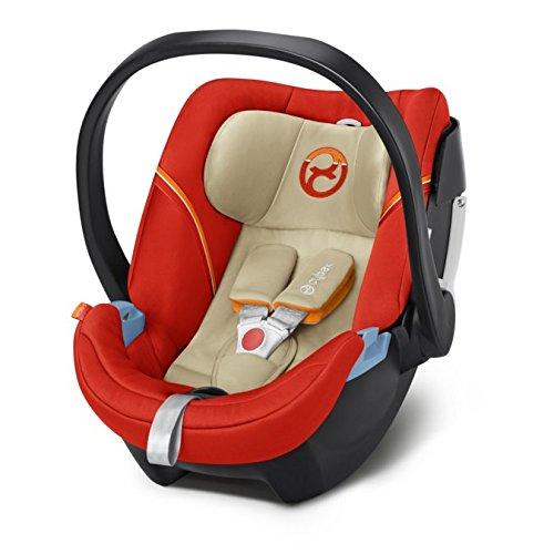 Cybex Aton 5 - Silla de coche, Grupo 0  (0-13 kg, desde nacimiento hasta 18 meses), Colección 2017, color naranja