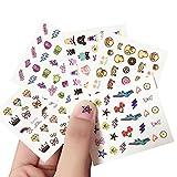 drawihi 1pc Kunst Sticker 3d Design Maniküre Tipps Selbstklebende Dekorationen für Nägel 50* 60mm