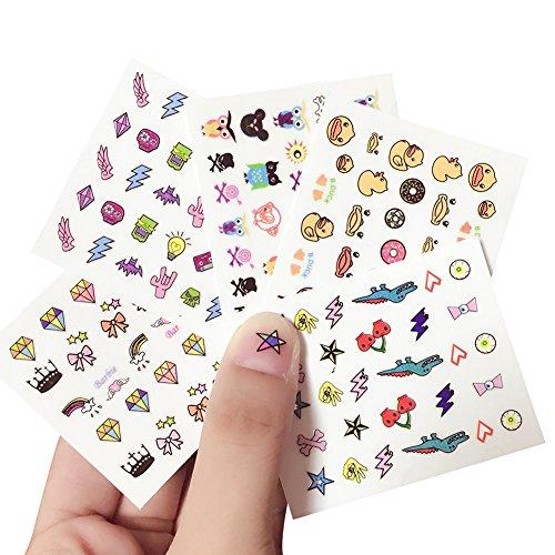 Kanggest. 10Pcs Preciosas Pegatinas Uñas Niños Dibujos
