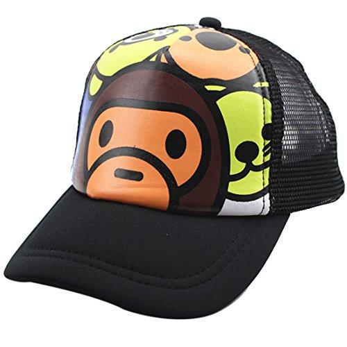 Belsen Kind Hip-Hop AFFE Mesh Cap Baseball Kappe Hut (AFFE Schwarz)
