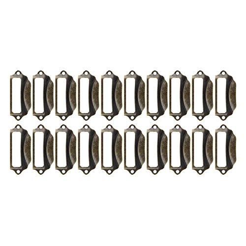 Saim Eisen Pull Griff Büro Bibliothek Datei Schublade Tag Rahmen Label Halterung Bronze, bronze, YWFXJJ08155 -