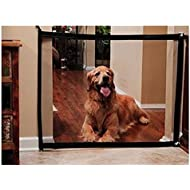 Nifogo Magic Gate Pet Dog Safe Guard, Portable Folding Safe Guard Install Anywhere (Balck)