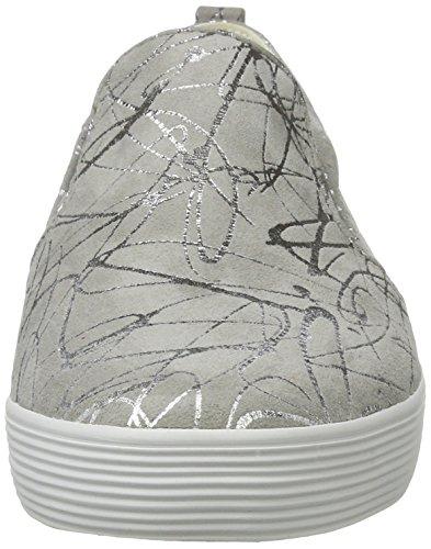Gabor Damen Comfort Sneakers Grau (hellgrau/silber 61)