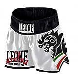 LEONE - Pantalón para Wing Kick y Muay Thai blanco Talla:XL