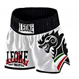 Leone 1947 LEONE - Pantalón para Wing Kick y Muay Thai blanco Talla:XL