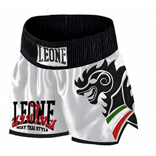 Leone 1947 Wing Pantaloncino Kick/Thai, Bianco, XL