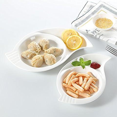 XQXOccidentale bistecca casa gnocco snack piatti pesce piatto di salsa di piatti in ceramica creative bianchi puri , 10