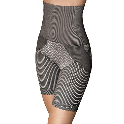 d24076954 SANKOM Womens Patent Shaper Shorts with Grey Bamboo Posture Correction