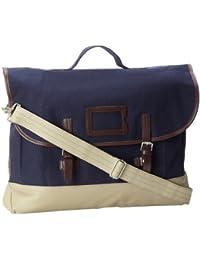 Fred Perry Cotton Satchel Bag Carbon bleu