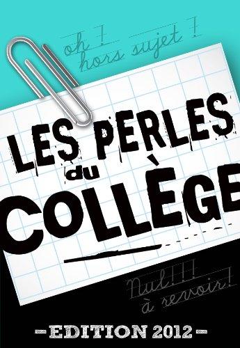 Couverture du livre Les perles du collège