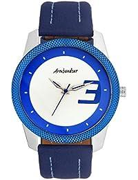 Armbandsur Analog white & Blue dial elegant Watch-ABS0025MBB