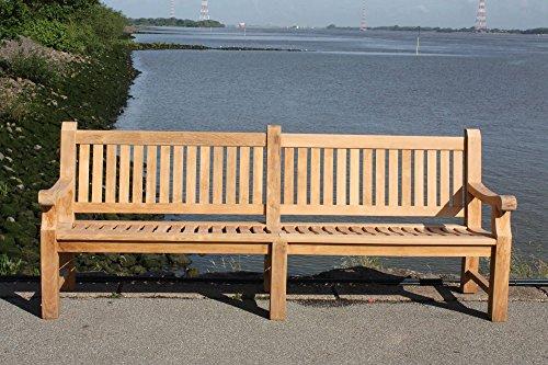furniture4life Hochwertiger Teak Fünfsitzer Parkbank Elefantenbank Gartenbank Sitzbank Garten Bank