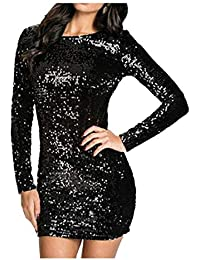 Amazon.it  Vestito Da Sera Con Paillettes - Aderente   Vestiti ... af21151d471