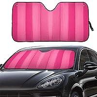 مظلة شمسية من MCBUTY للزجاج الأمامي للسيارة باللون الوردي السميك 5 طبقات عاكس للأشعة فوق البنفسجية نافذة أمامية غطاء واقي واقي من الشمس والحفاظ على سيارتك باردة (55 بوصة × 27.5 بوصة)