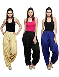 Mango People Products Combo Skin, Black & Royal Blue Of 3 Colours Womens & Girls Solid Cotton Mix Best Indian...