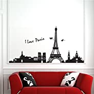 Stickieart - I Love Paris Wall Decal - Large - 60 X 90 Cm - Sta-184