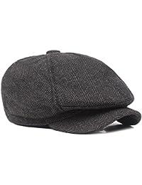 Gysad Sombrero de Invierno Vintage Newsboy Hat Otoño e Invierno Boina de Hombre  Estilo literario Sombrero 4109f050b86