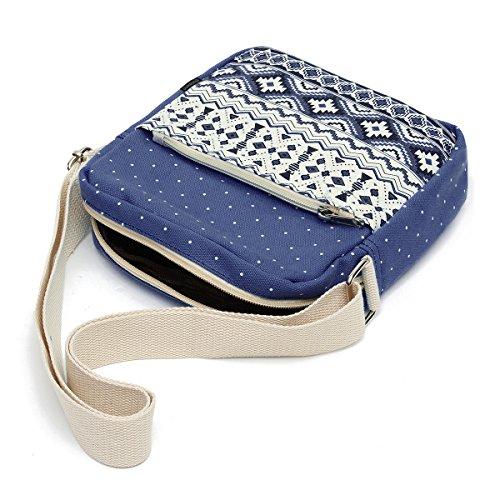 OURBAG Segeltuch Rucksack Schulter Beutel Mappe 3PCS stellte für Frauen ein Hellblau (2PCS)Blau