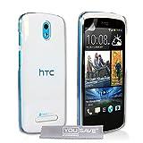HTC Desire 500 Hülle Kristall Klare Hart Schutzhülle