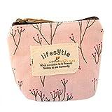 Babysbreath Mini-Blumen-Leinwand-Münzen-Kasten-Schlüssel-Beutel-Karten-ändern Geldbeutel-Reißverschluss-Mappen Rosa