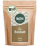 Baobab Pulver Bio (250g) - Biobaobab in Premium Bio-Qualität - Apothekerbaum - Affenbrotbaum - Affenbrotbäume -Adansonia - Kontrolliert und abgefüllt in Deutschland (DE-ÖKO-005)