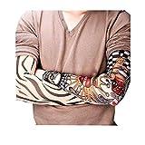 HLHN Herren Damen Temporary Gefälschte-Slip Tattoo Ärmel Strümpfe Tätowierung Anziehen Sunscreen Armmanschette (3 Paare)