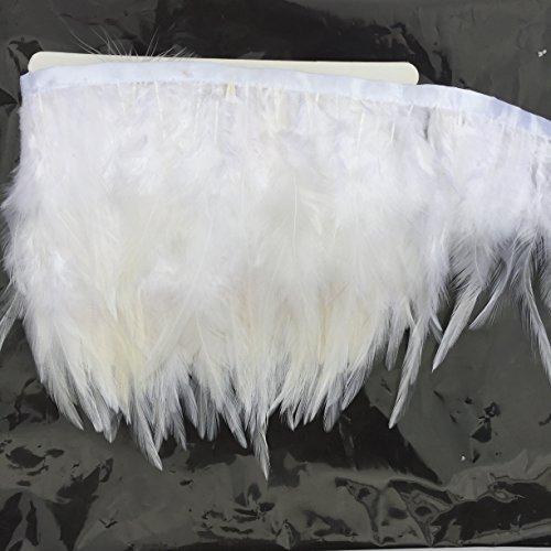 shekyeon 9,1m/Lotto Rooster Hackle Feather Trim Kostüm Kleid Dekoration DIY Craft Feather (Lotto Kostüm)