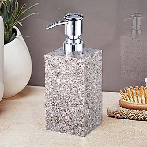 Distributeur de savon de salle de bain Résine, Hand Sanitizer, gel douche, bouteille de Sub, Shampoing, lotion, distributeur de savon, 500ml,