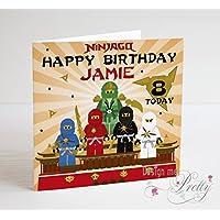 Lego Ninjago Personalised Birthday Card