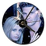 MasTazas Angel & Buffy David Boreanaz Sarah Michelle Gellar Horloge CD Clock 12cm