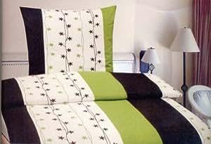 2-Teilig Microfaser Bettwäsche Set mit Reißverschluss 1x 155x220 Bettbezug + 1x 80x80 Kissenbezug , Öko-Tex Standart 100