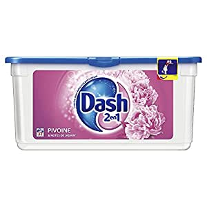Dash 2 en 1  - Lessive Liquide Eco-Doses - Pivoine et Jasmin - 32 Doses