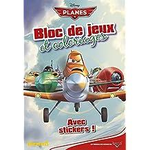 Planes - Bloc de jeux et coloriages avec stickers
