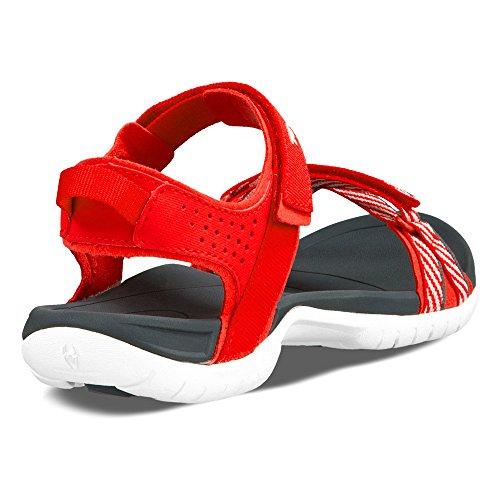 Teva W Verra, Sandales de randonnée femme red