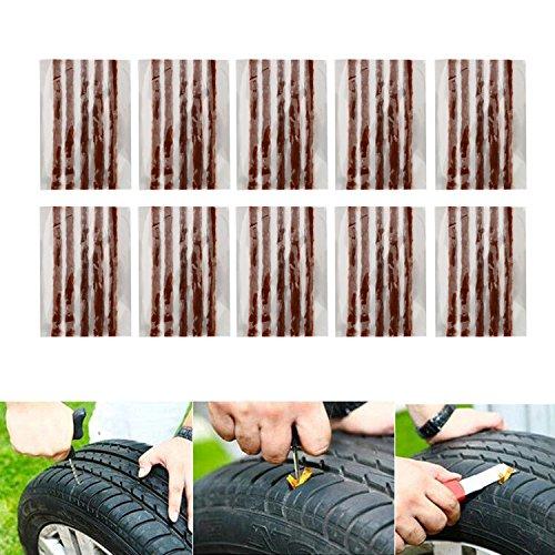 Mechas Reparapinchazos, OSAN Kit de Mecha Pinchazos para Reparación Neumáticos de Coche y Moto