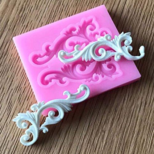HENGSONG Blume Spitze Mini Silikonform Kuchenform DIY Fondant Süßigkeiten Schokolade Form Backen Formen Dekorieren (Stil 2)