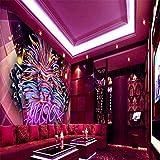 Hintergrundbild Wandsticker Wandtattoo Wanddekorationbenutzerdefinierte 3D-Hintergrund Bunte Popmusik Ktv Dekoration Hintergrund Wandbild Thema Restaurant Galerie Korridor Tapete, 250 * 175 Cm