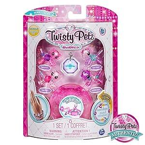 Spin Master Twisty Petz Babies Four Pack-Kiki Kitty, Salt, Tiki Kitty & Pepper Pony, Colores Surtidos (20104378)