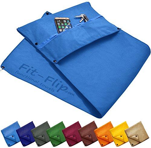 Fit-Flip 3-TLG Fitness-Handtuch Set mit Reißverschluss…   04260488861739
