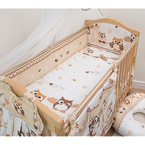 5pezzi Baby Comfort–Biancheria da lettino, paracolpi completo con motivo decorativo,