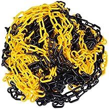 6 mm St/ärke Absperrkette aus Kunststoff gelb schwarz beschichtet 25 m L/änge