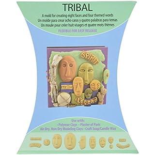 Amaco Mold Push Soft Tribal, Brown